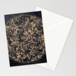 Vintage Constellations & Astrological Signs | Yellowed Ink & Cosmic Colour Stationery Cards