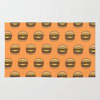 burger Area & Throw Rugs featuring BURGER by KODYMASON