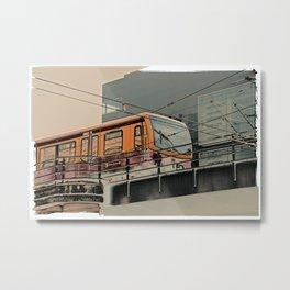 S-Bahn Berlin Kunst Metal Print
