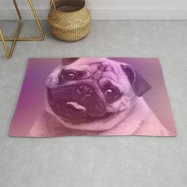 Cute Pug  Digital Art Rug