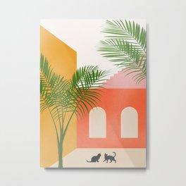 Cat Space I Metal Print