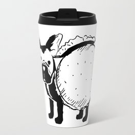 Boston Terrier Cheeseburger Travel Mug