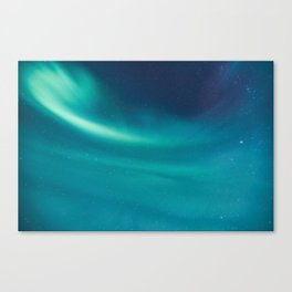 Turquoise Star Galaxy Canvas Print