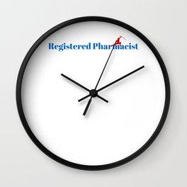 Registered Pharmacist Ninja in Action Wall Clock