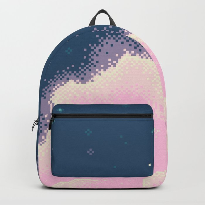 Pixel Cotton Candy Galaxy Backpack