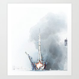 Rocket fev23 Art Print