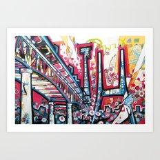 I5 over Lake Union Art Print