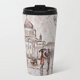 meeting in red #2 Travel Mug