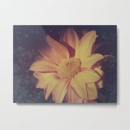 Abstract vintage flower Metal Print
