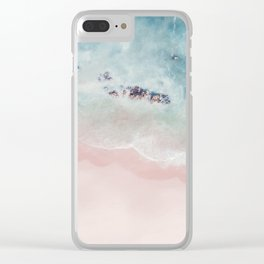 Ocean Pink Blush Clear iPhone Case