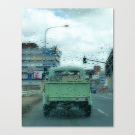 Rainy Days and Vintage Vehicles Canvas Print