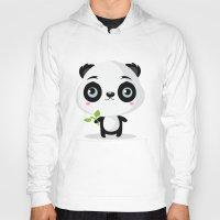 panda Hoodies featuring Panda by Maria Jose Da Luz