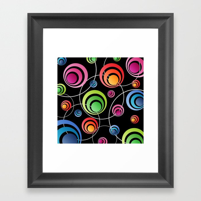Circles In Circles. Framed Art Print