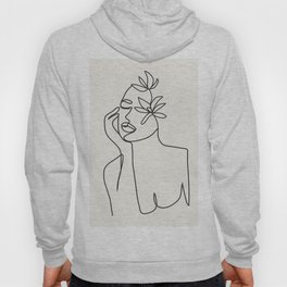 Abstract Minimal Woman I Hoody