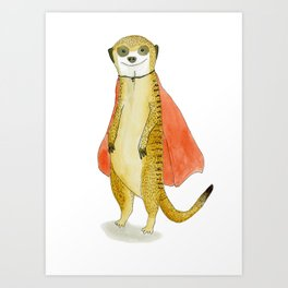 Super Meerkat Art Print