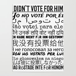 Anti-Trump Didn't Vote for Him Poster