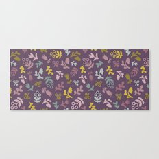 Ditsy Flowers in purple Canvas Print