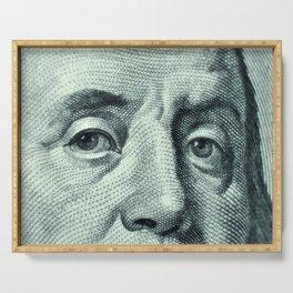 dollar bill detail Serving Tray
