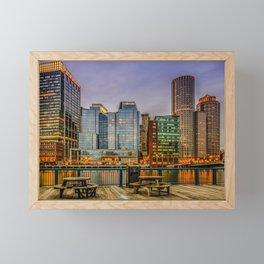 Boston Financial District Framed Mini Art Print
