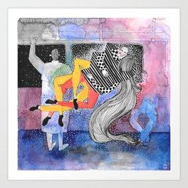 Stranger Collision  Art Print