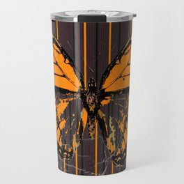 SHABBY CHIC ANTIQUE BUTTERFLY ART Travel Mug