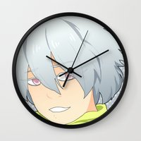 clear Wall Clocks featuring Clear by Liyu