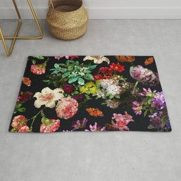 Colorful Floral Low Poly Geometric Triangles Rug