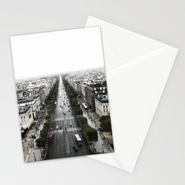 The Avenue des Champs-Elysees Stationery Cards