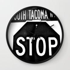 South Tacoma Stop Wall Clock