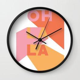 oh la la ii Wall Clock