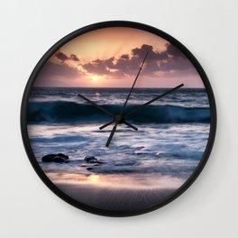 Sunset at El Arenal Wall Clock