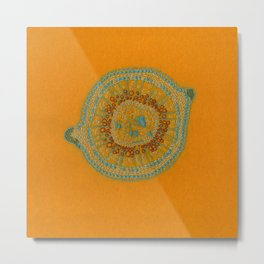 Growing - hypericum - plant cell embroidery Metal Print
