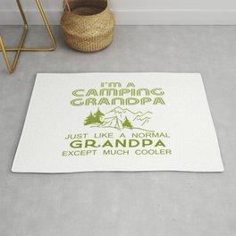 Camping Grandpa Rug