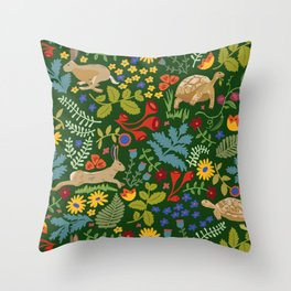 Tortoise and Hare Throw Pillow