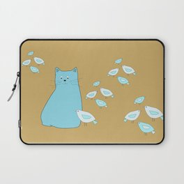 Cat and birds Laptop Sleeve