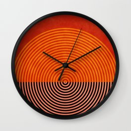 lines and shapes 1 abstract geometric Wall Clock
