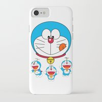doraemon iPhone & iPod Cases featuring Dora Flaying Together  by Timeless-Id