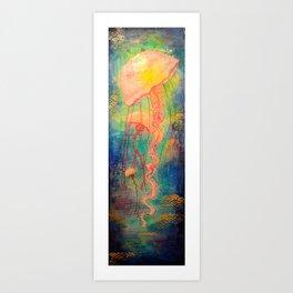 Jellyfish Bliss Art Print