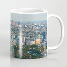 Los Angeles Skyline and Los Angeles Basin Panorama Coffee Mug
