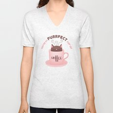 You're my Purrfect cup of Coffee Cat Unisex V-Neck