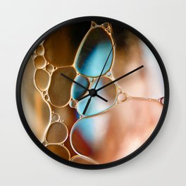 """""""Cobblestone - Oil and Water"""" Wall Clock"""