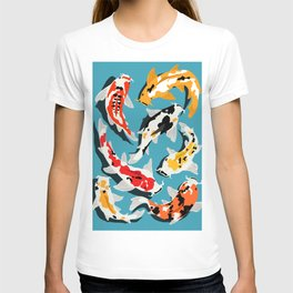 Colorful Koi Carps Swimming Around T-shirt