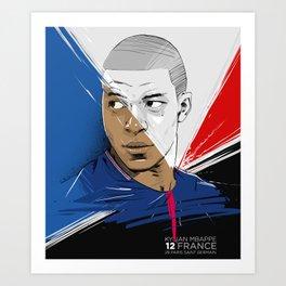Kylian Mbappé Art Print