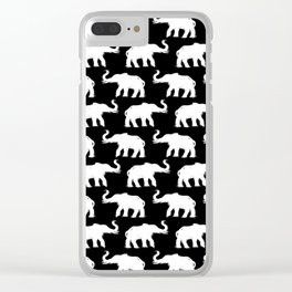 Elephants on Parade Black Clear iPhone Case