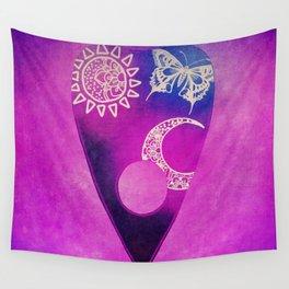 Purple Pretty Ouija Planchette, Occult Art, Ouija Art Wall Tapestry