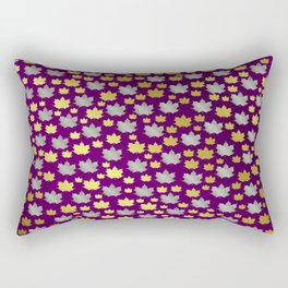 gold,silver,purple,maple, leaf, canadian, canada, symbol, design, background, fall, element, tree, c Rectangular Pillow