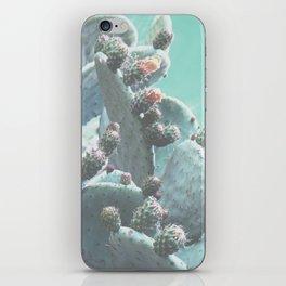 Green Flowering Cacti iPhone Skin