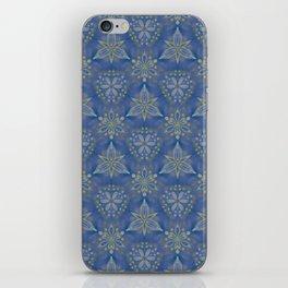 Blue flower Swirl pattern iPhone Skin