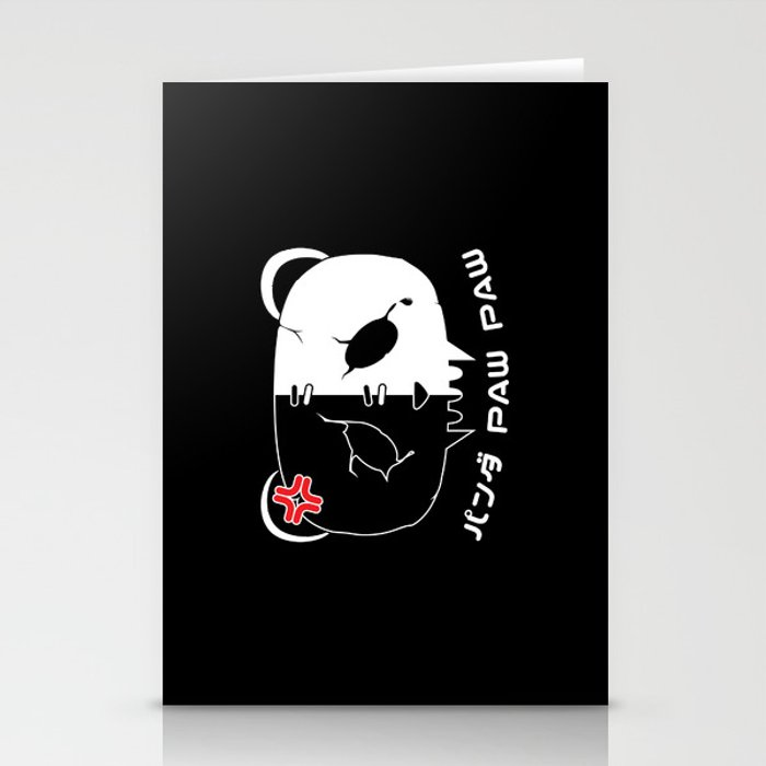 Angry Symbol Panda Paw Paw Design White Stationery Cards By