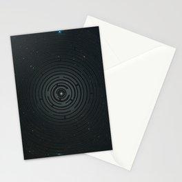 Space Maze Cyan Stationery Cards